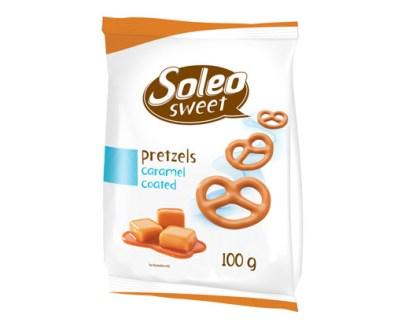 Soleo Caramel Coated Pretzel 14X100Gr