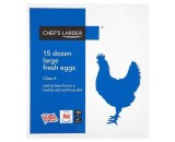 Chef'S Larder 15 Dozen Large Eggs 180S