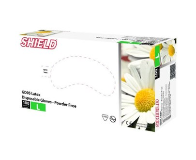 Shield Latex Gloves Large 10X100S