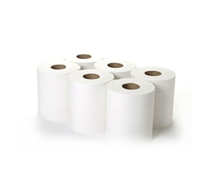"Centrefeed White Paper Roll 2Ply 1X6Pcs ""Up"""
