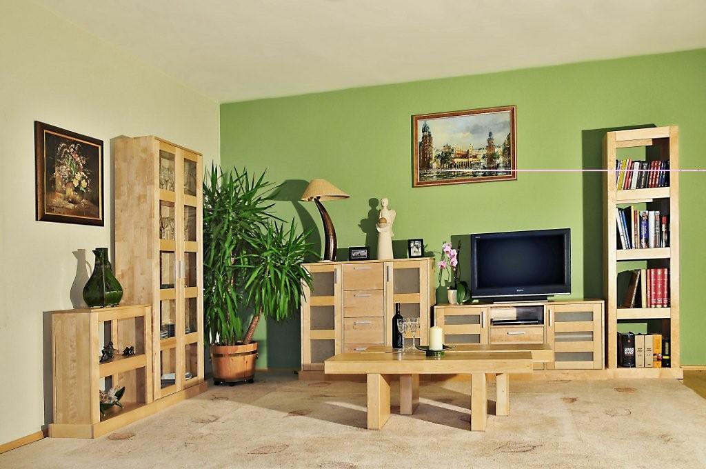 meble drewniane salonowe