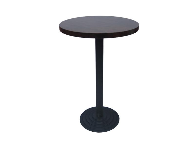 stolik barowy na żeliwnej podstawie