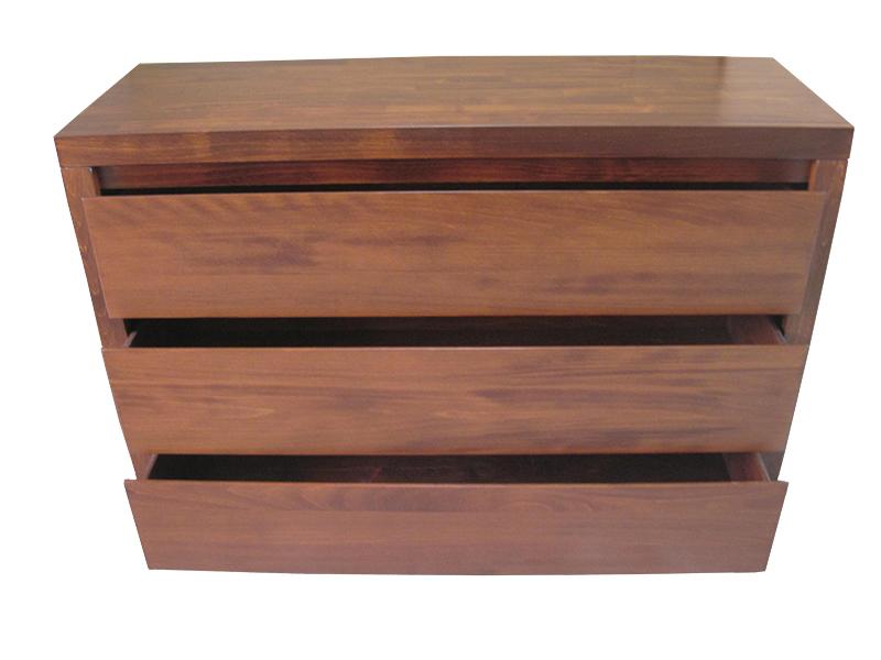 Komoda bukowa trzy szuflady