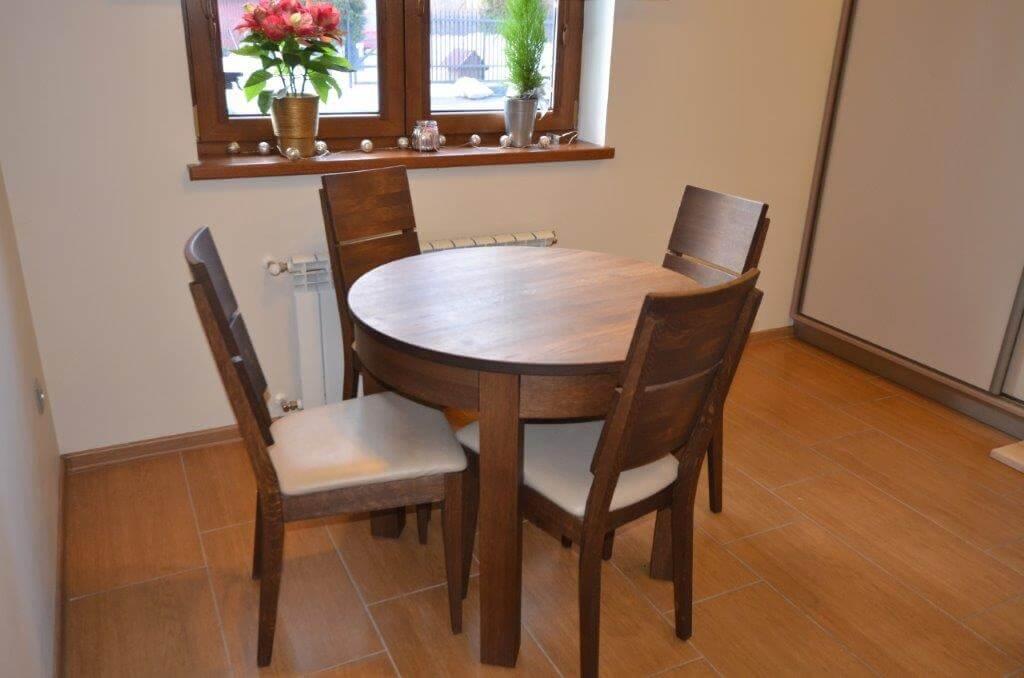 stół do kuchni z drewna dębowego