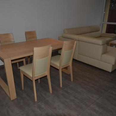 Meble drewniane brzozowe stół i krzesła