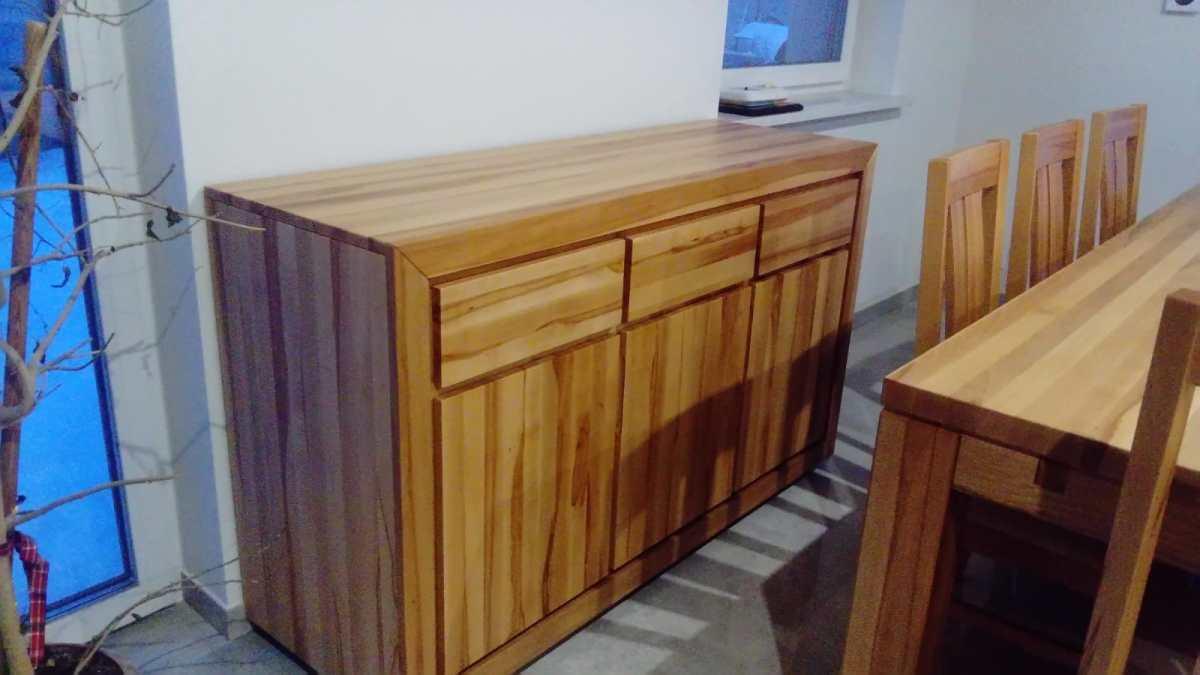 komoda z drewna buka twardzielowego