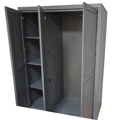 Wnętrze szafy bukowej szarej