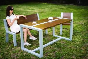 stół i ławka do ogrodu Ulam