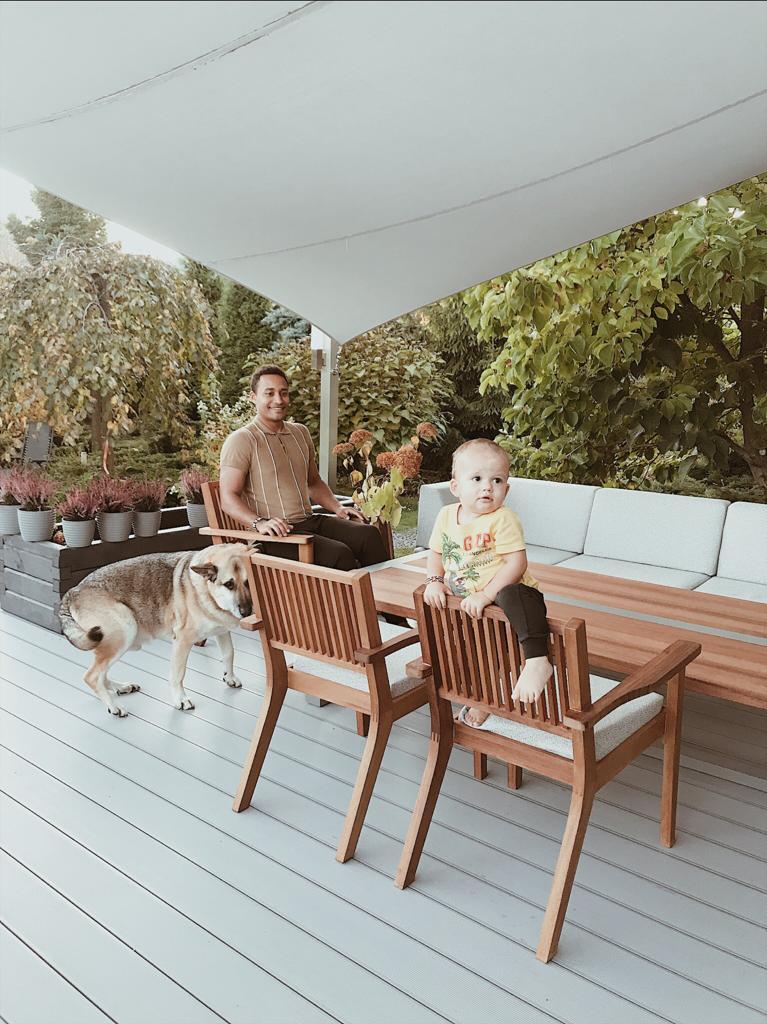 Fotele taras ogród Drewno Iroko