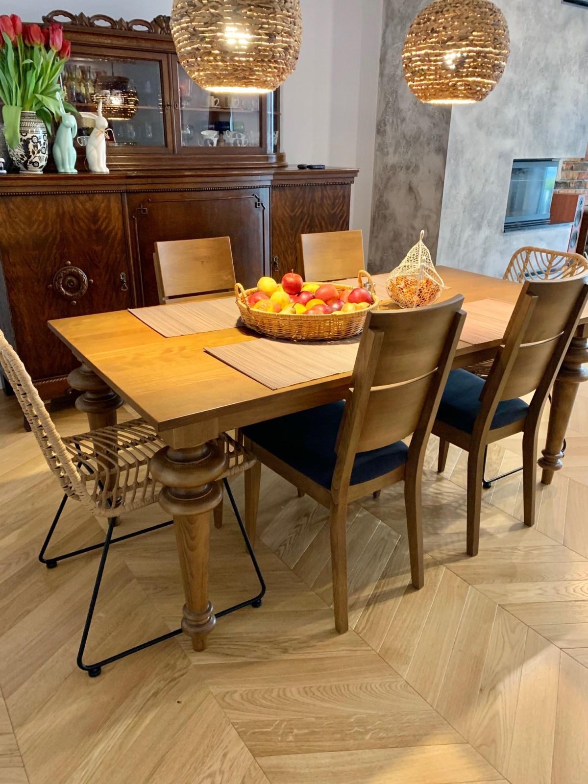 stół toczony krzesła Spring K2