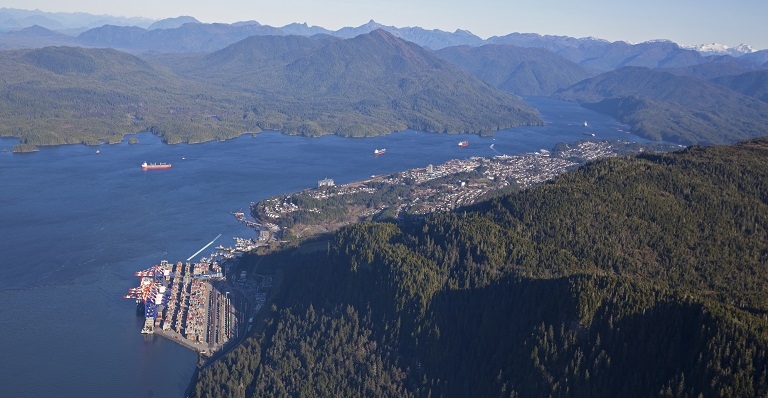 Prince Rupert is North Americas closest port to Asian Markets for exporting