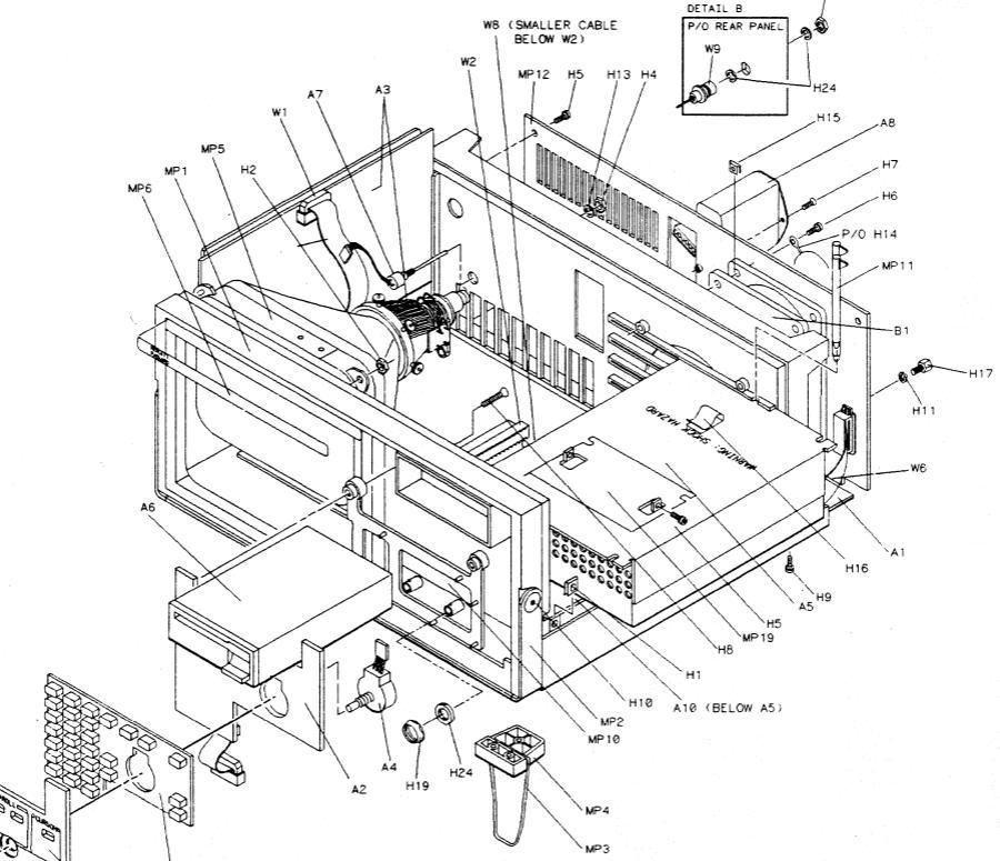HP 1652B power supply repair