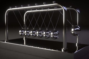Newton's Cradle in use