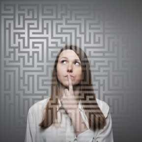 woman maze