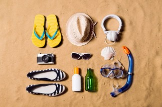 items on beach