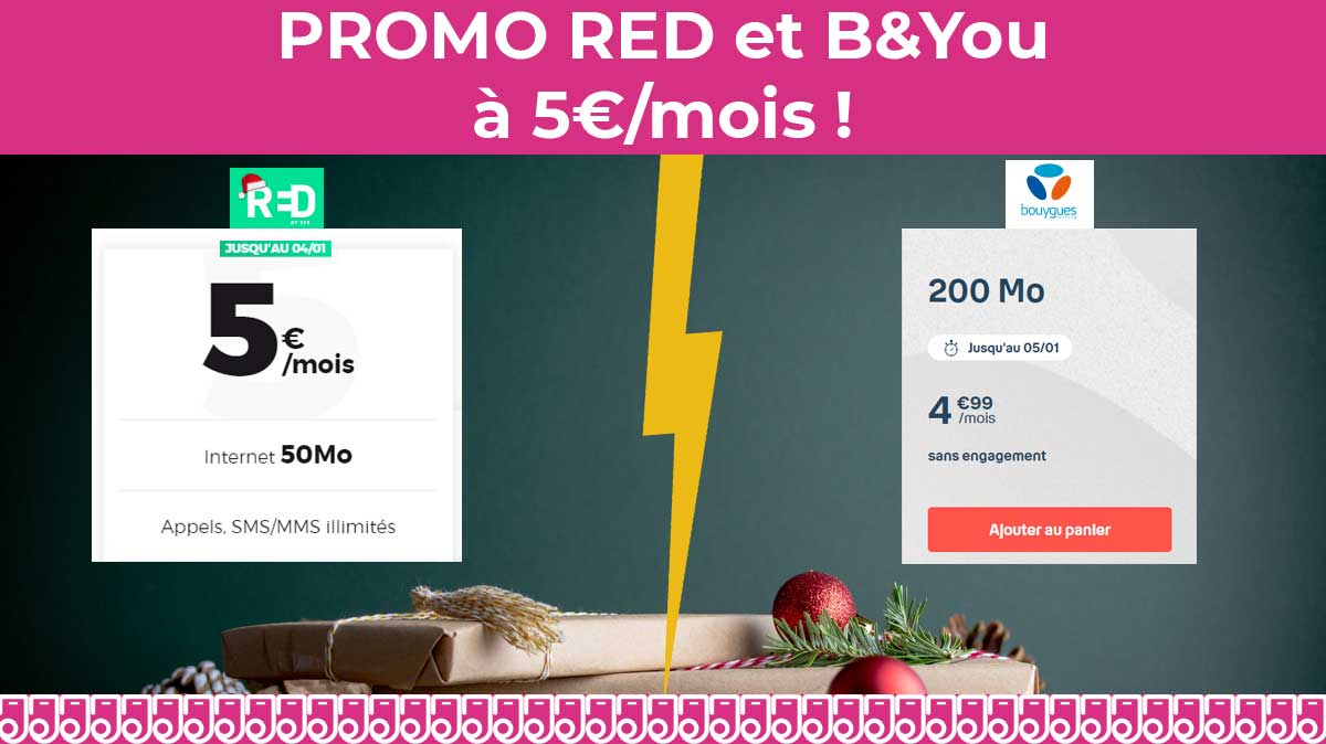 Promo Forfaits Mobiles A 5 Chez Red Et B You