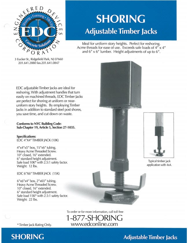 adjustable timber jacks