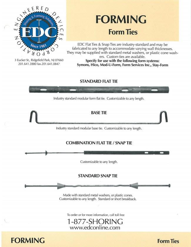 formwork form ties