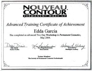 Edda Garcia Permanent Makeup Certifications