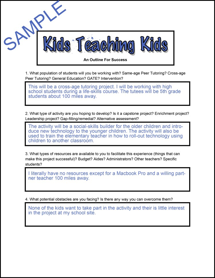 Kids Teaching Kids- An Outline for Success-1