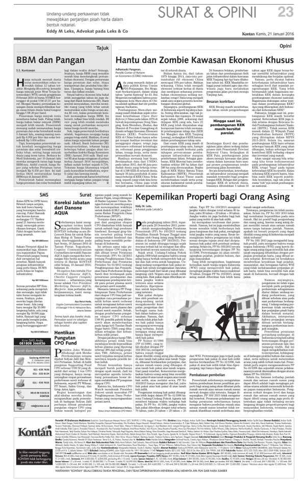 indonesia real estate law, notes on ownership for foreigners