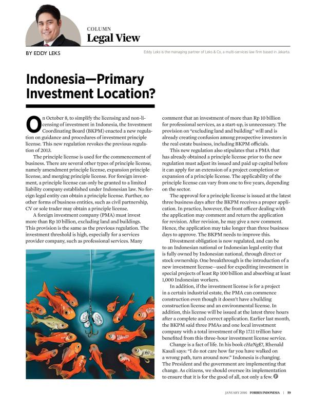 Column by Eddy Leks in Forbes Indonesia - January 2016-page-001