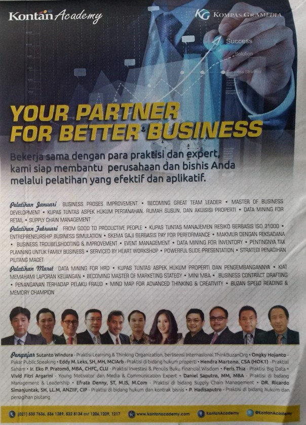 Eddy Leks featured in Kompas 4 Jan 2016