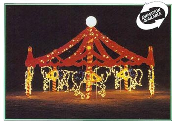 Carousel  Animated Holiday Lights  Commercial Christmas