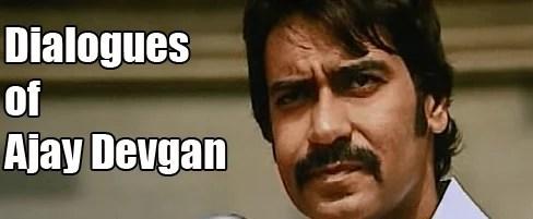 Dialogues of Ajay Devgan