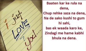 Love Shayari in hindi I just Love u