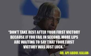Abdul kalam quotes on first success