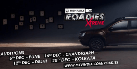 Roadies Xtreme Audition Date, Time and Venue