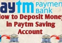 Deposit Money in Paytm Saving Account