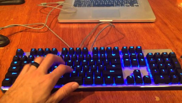 Mechanical Gaming Keyboard with LED Backlit