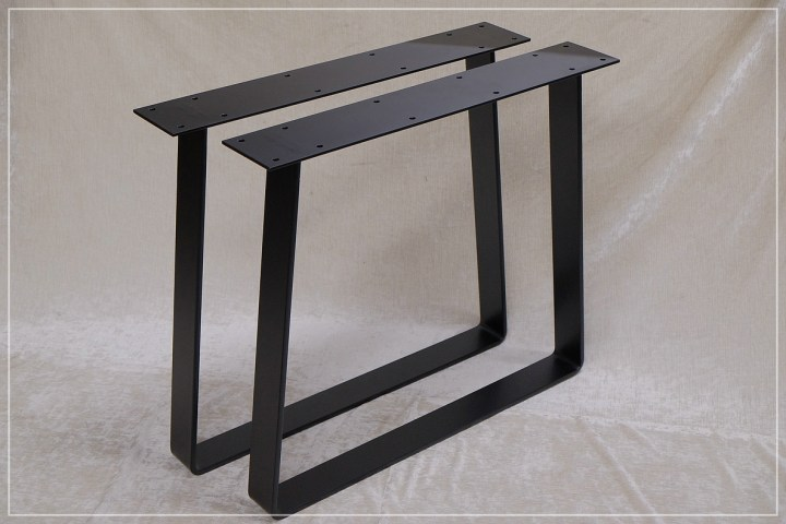 80x12 Flachstahl gebogen Tischkufen