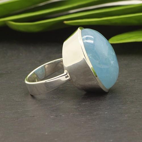 Aquamarin Ring Silber 925 24x32mm Grosse 57