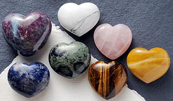 Herzform Handschmeichler Edelsteine Herzen