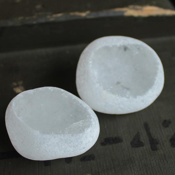 bergkristal ruw half gepolijst