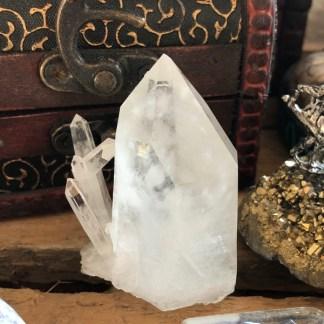 bergkristal punt ruw dubbeleinder