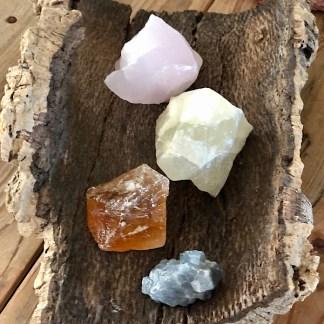 calciet ruwe brokjes setje nr2 mineralen