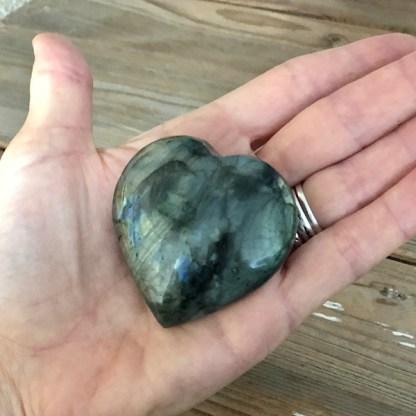 labradoriet hart gepolijst nr1 mineralen maansteen zonnesteen