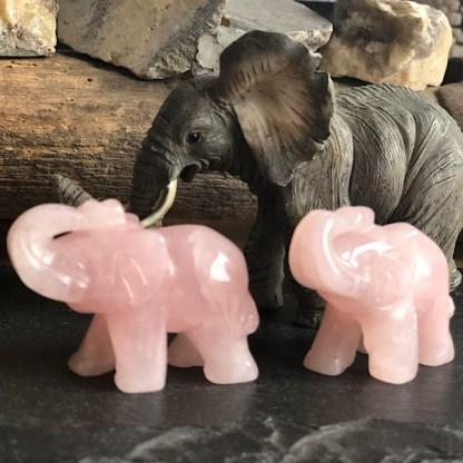 rozekwarts olifantje gepolijst rozenkwarts mineralen