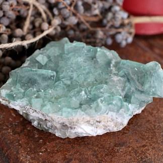 fluoriet groen ruw matrix nr2 mineralen