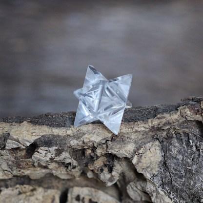 merkaba rozekwarts bergkristal amethist setje mineralen