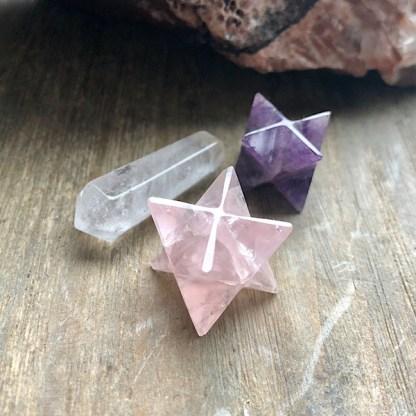 merkaba amethist rozekwarts dubbeleinder bergkristal klein 1