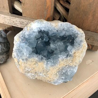 celestien ruw geode knol nr2 mineralen kristallen celestiet coelestien