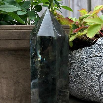 labradoriet obelisk punt gepolijst nr1 maansteen zonnesteen mineralen