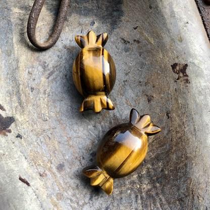 tijgeroog gepolijst snoepje mineralen rozekwarts aventurijn
