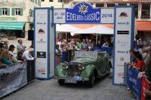 Stier Gunter und Wiedemann Beate auf Jaguar 3,5 Ltr. MK IV BJ 1948