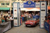 Ruhl Karl und Gerum Anton auf Jaguar E Roadster Serie 1 BJ 1964